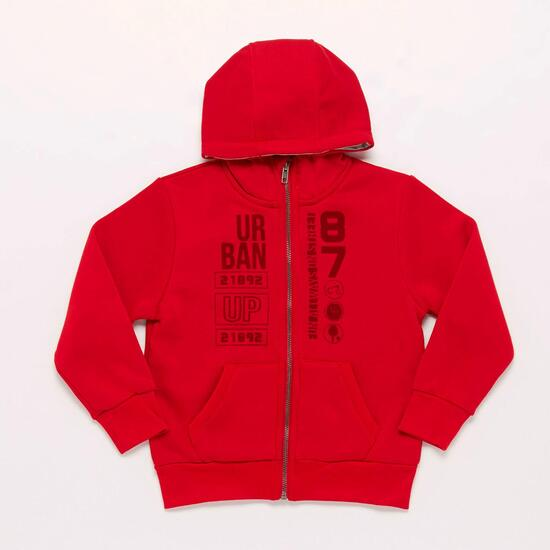 Sudadera Roja Niño Up Basic