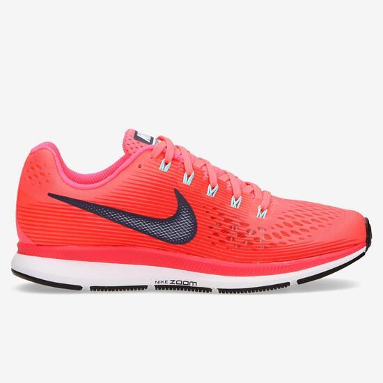 Zapatillas Running Nike Pegasus 34 Rojas Mujer