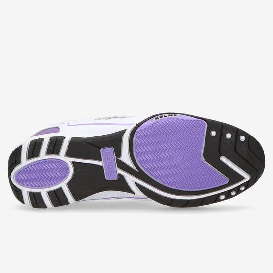 Zapatillas Kelme Velcro Blanco Morado Niña (36-39)