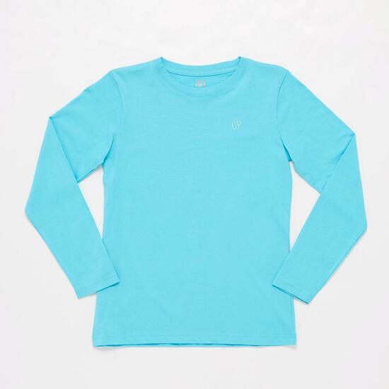 Camiseta Manga Larga Azul Junior Up Basic