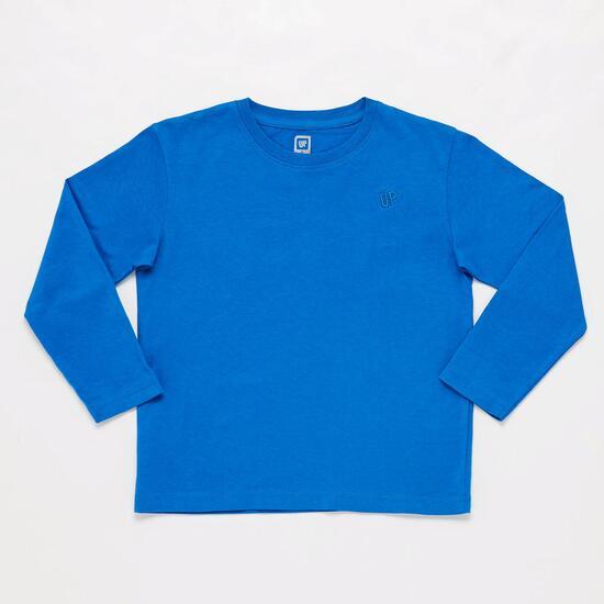 Camiseta Manga Larga Azul Niño Up Basic