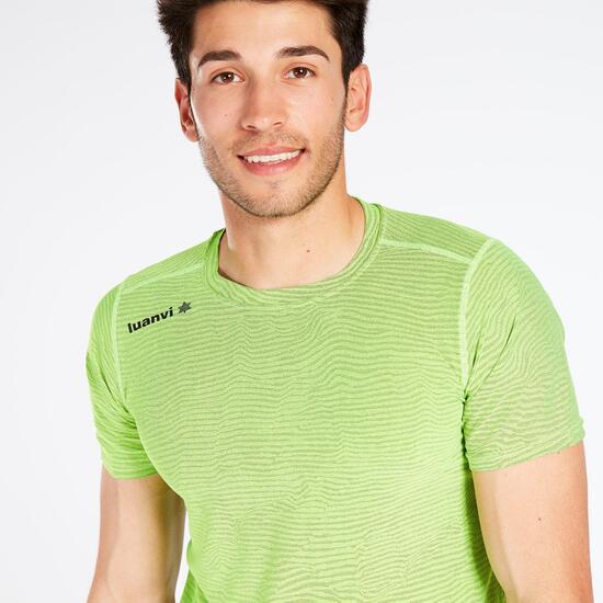 Camiseta Running LUANVI Verde Hombre