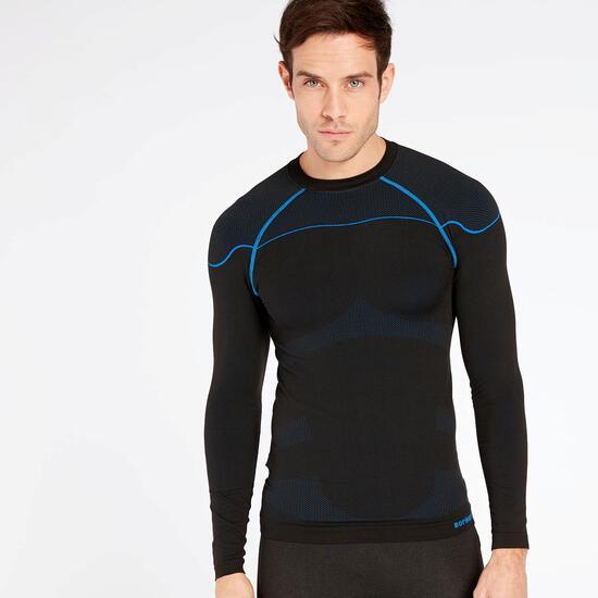 5185553cf3a4d Camiseta Térmica Manga Larga Negra Azul Boriken - NEGRO - Camiseta ...