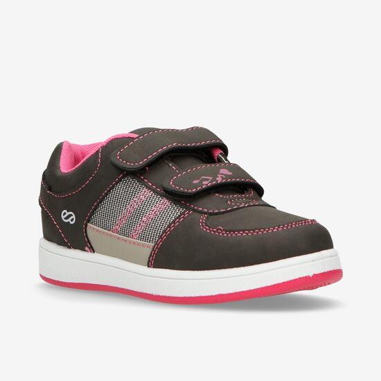 Zapatillas Casual Velcros Grises Niña Silver (28-35)