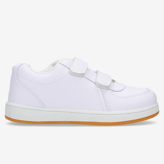 Zapatillas Casual Velcro Blancas Niño Silver (22-27)