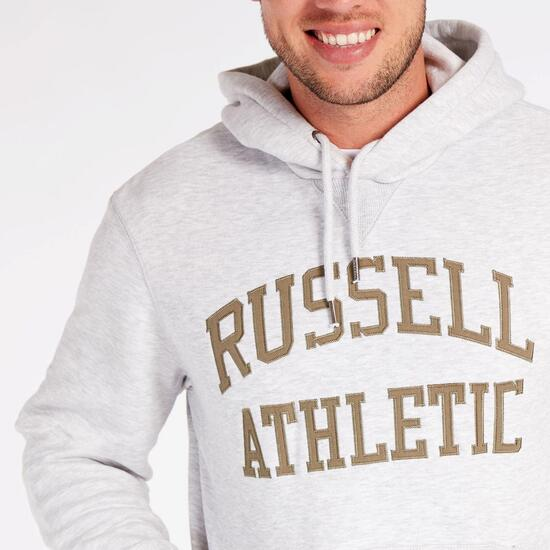 Sudadera Capucha Gris Russell Athletics