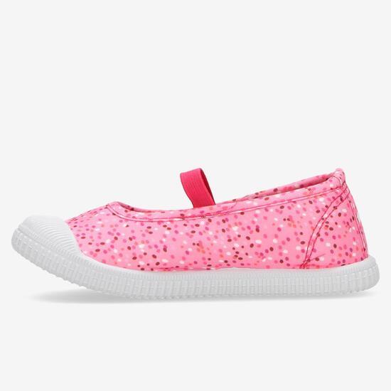 Zapatillas Lona Rosas Multicolor Niña Up