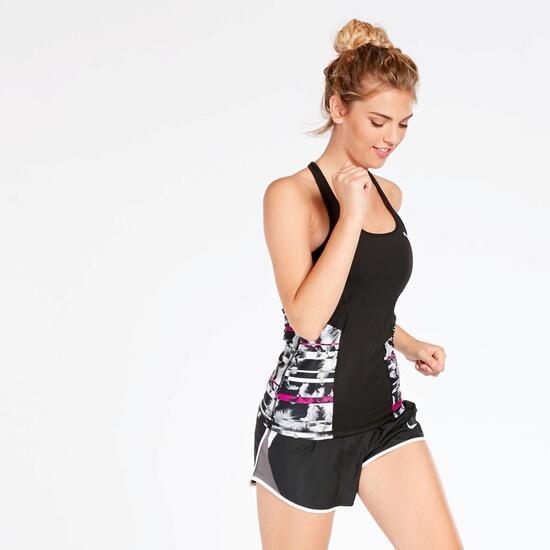 Camiseta Running Sin Mangas Puma Negra Mujer