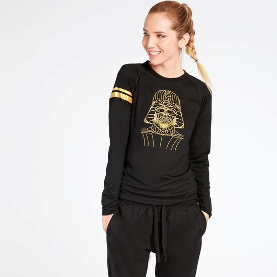 Camiseta Star Wars Negra Mujer