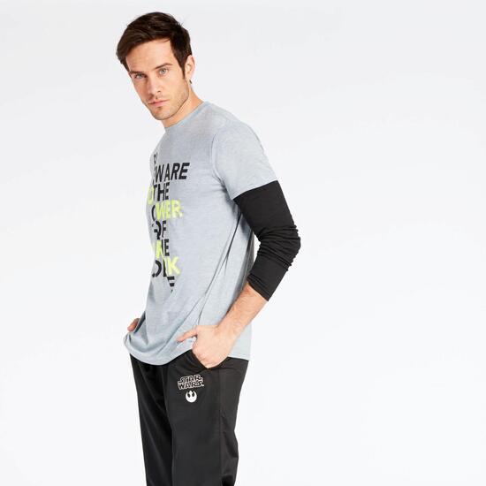 Camiseta Star Wars Hombre Gris