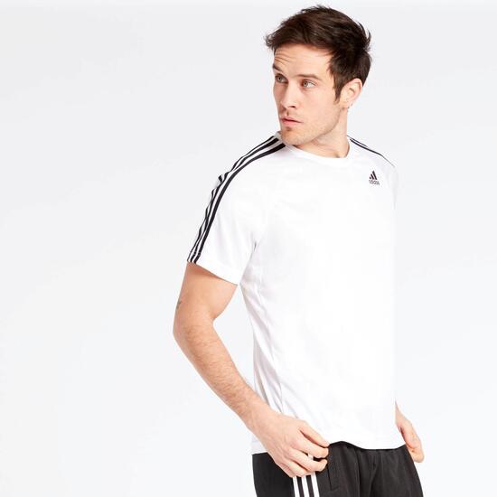 Camiseta adidas D2M Blanca