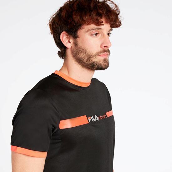 Camiseta Tenis Fila Training Negra