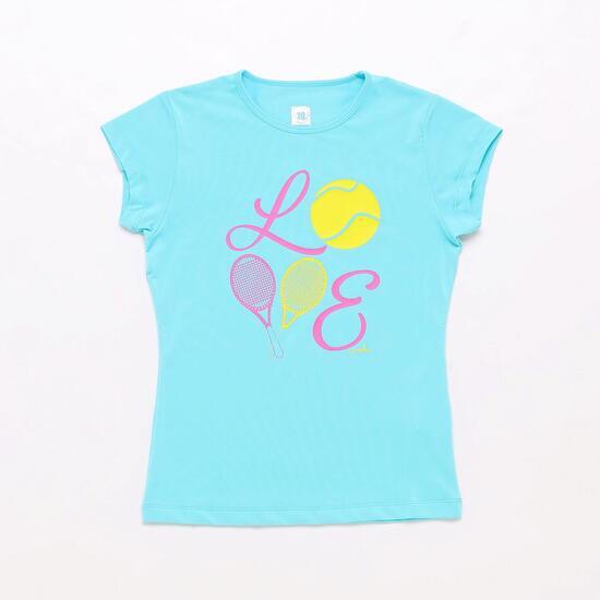 Camiseta Tenis Celeste Proton Niña