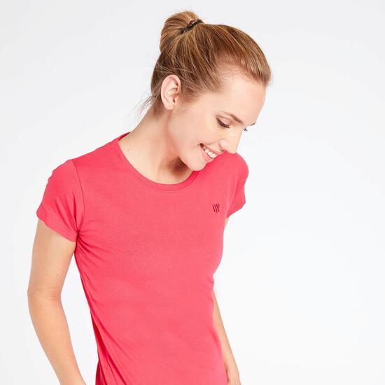 Camiseta Manga Corta Rosa Up Basic