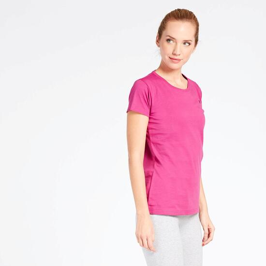 Camiseta Manga Corta Fucsia Up Basic