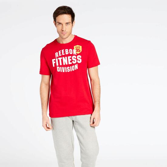 Camiseta Reebok Roja