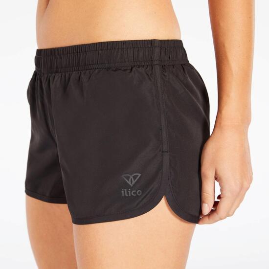 Pantalón Corto Negro Ilico Basic