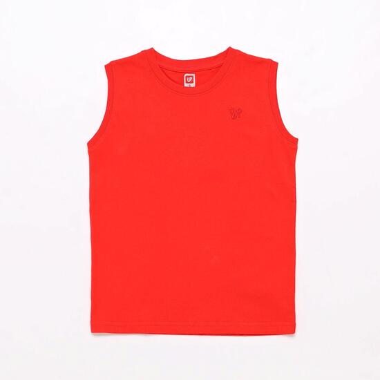 Camiseta Roja Up Basic Niño