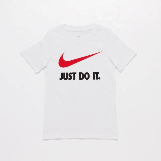 Camiseta Nike Swoosh Blanca Niño