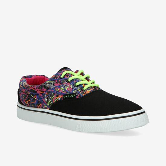 Zapatillas Lona Negras Up Vansy