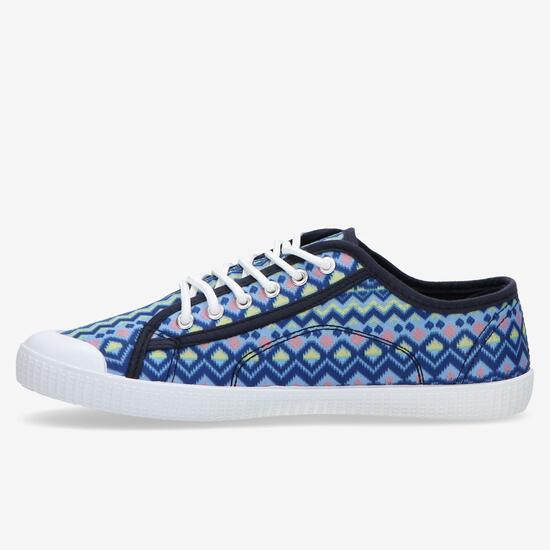 Zapatillas Lona Azul Marino Up Bico