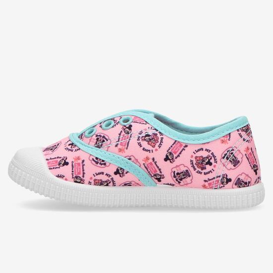 Zapatillas Mickey Rosas Niña