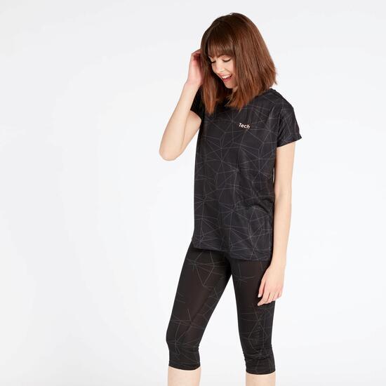 Camiseta Negra Silver Equipment Tech