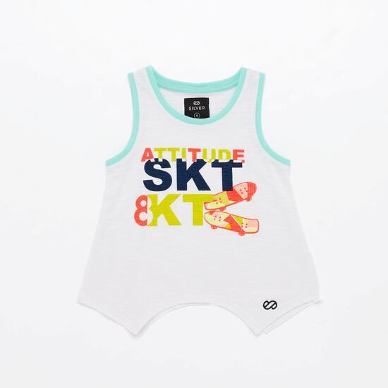 Camiseta Silver Skate&Roll Energy Niña