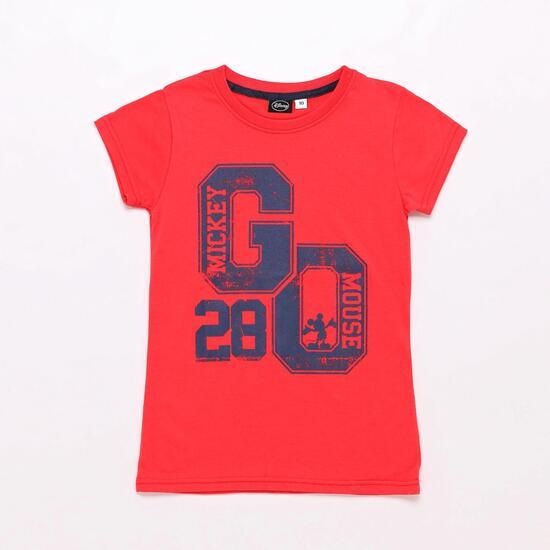 Camiseta Mickey Roja Niña