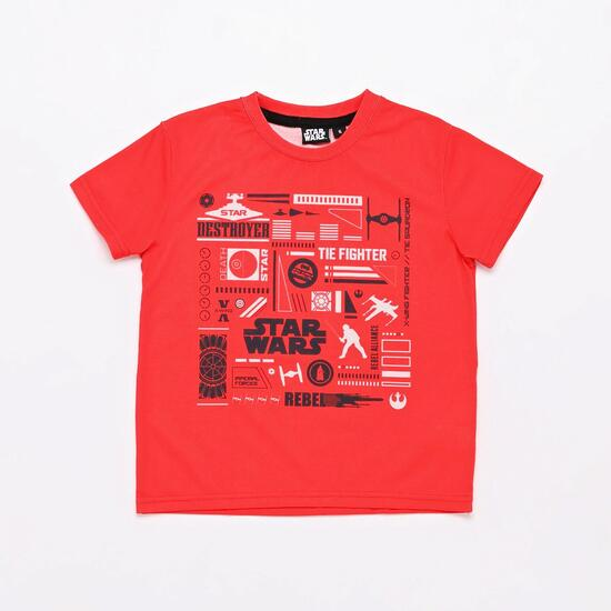 Camiseta Star Wars Roja Niño