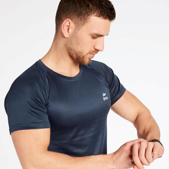 Camiseta Running Azul Marino Ipso Basic