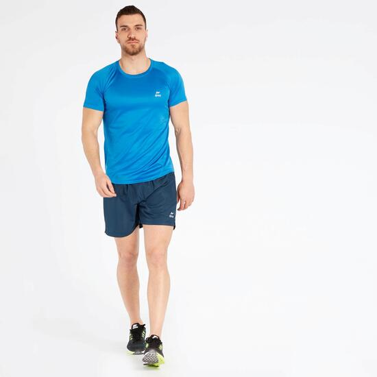 Camiseta Running Azul Ipso Basic