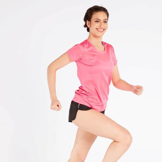 Camiseta Running Rosa Ipso