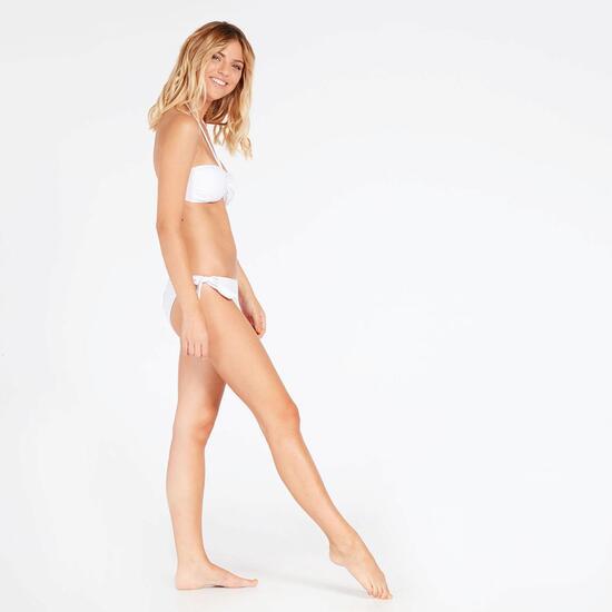 Bikini Bandeau Blanco Tirantes Mujer West Coast