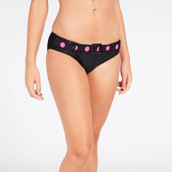 Bikini Triángulo Fijo Lunares Rosas Mujer West Coast