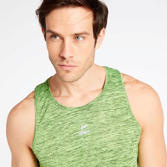 Camiseta Tirantes Running Ipso Verde
