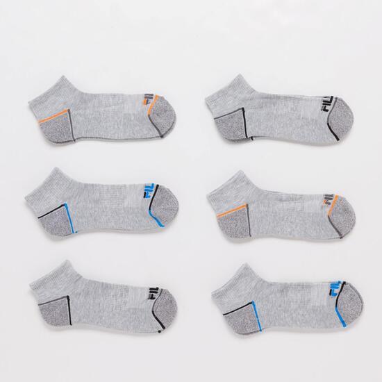 Calcetines Cortos Fila Grises