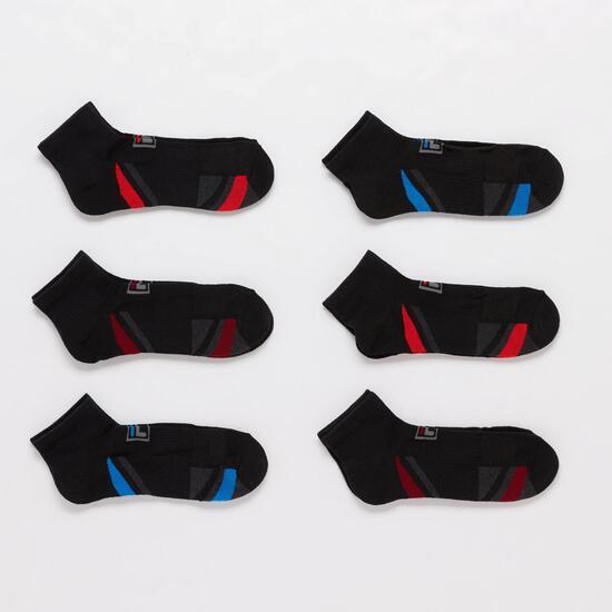 Calcetines Cortos Fila Negros