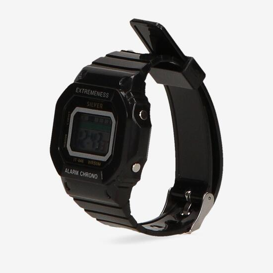 Reloj Sport Negro Silver