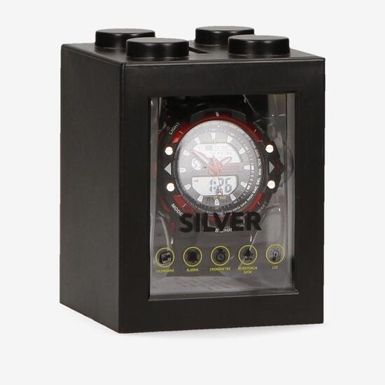 Reloj Deportivo Negro Silver