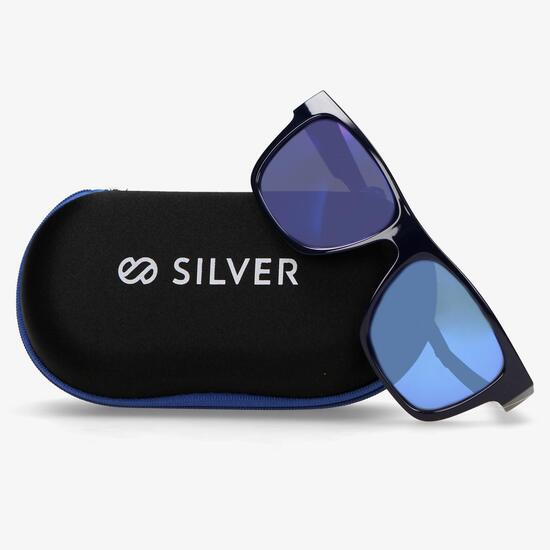 Gafa Sol Azul Silver