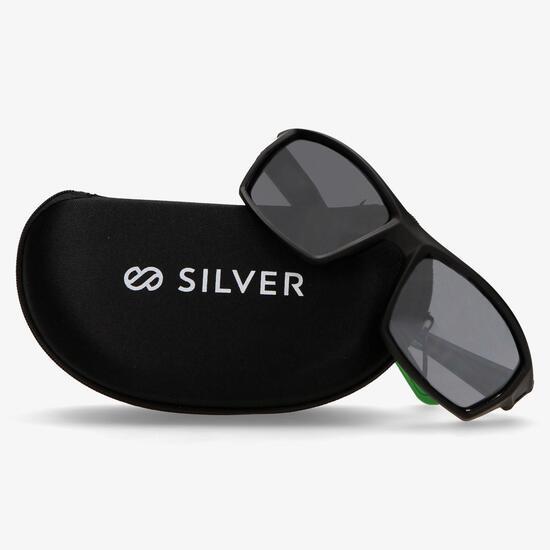 Gafa Sol Negra Verde Silver