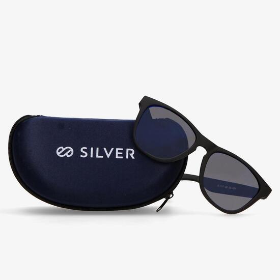Gafas Sol Negra Azul Silver