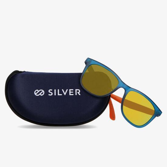 Gafas Sol Azul Naranja Silver