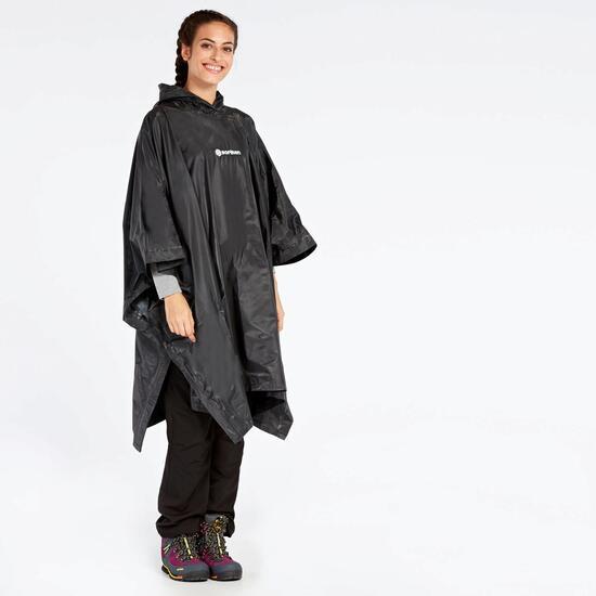 Poncho Lluvia Negro Boriken