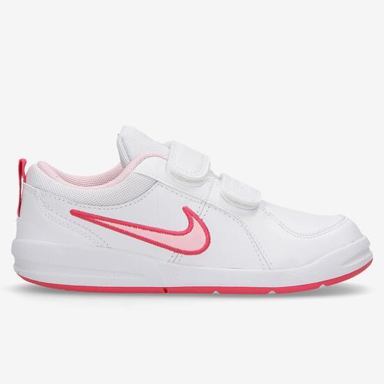 252cc14b541 Nike Pico 4 - Blanco - Fucsia - Zapatillas Niña