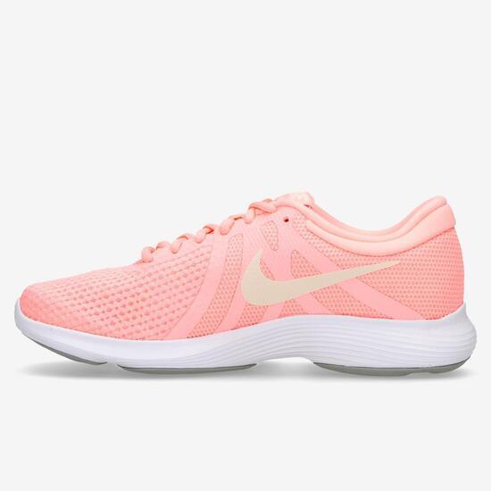 Zapatillas Running Niña Nike Revolution 3 Blancas Rosas