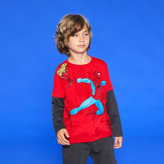Camiseta Manga Larga Spiderman Niño