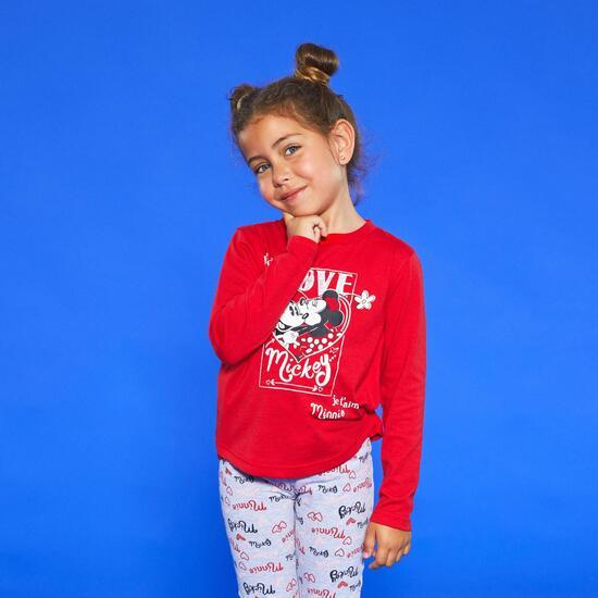 Camiseta Manga Larga Mickey & Minnie