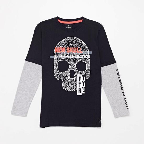 Camiseta Manga Larga Silver Future Junior